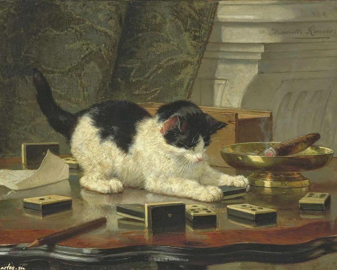 100年前她画了超多猫,姿态万千,惟妙惟肖插图103