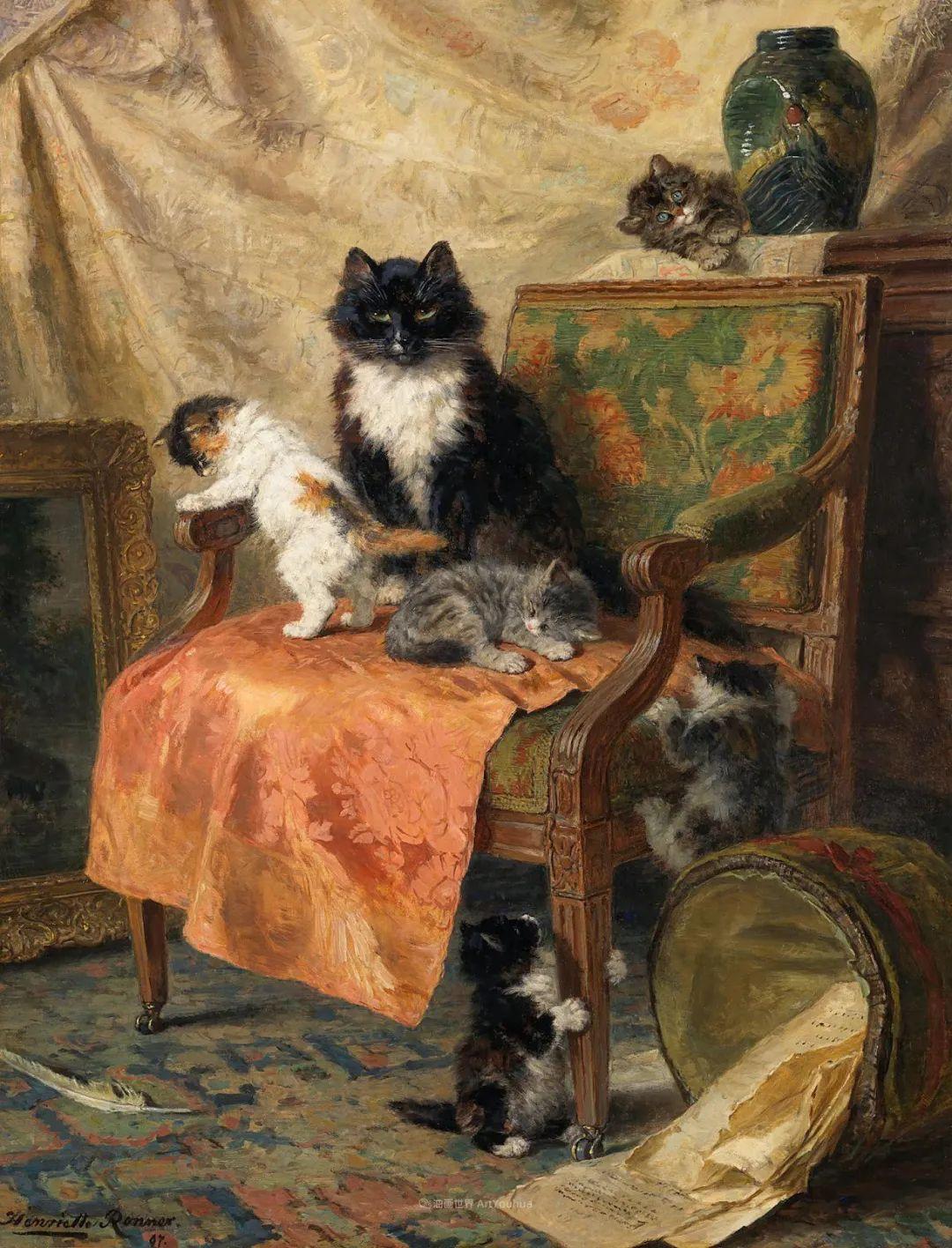 100年前她画了超多猫,姿态万千,惟妙惟肖插图105