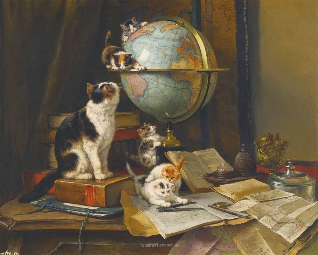 100年前她画了超多猫,姿态万千,惟妙惟肖插图107