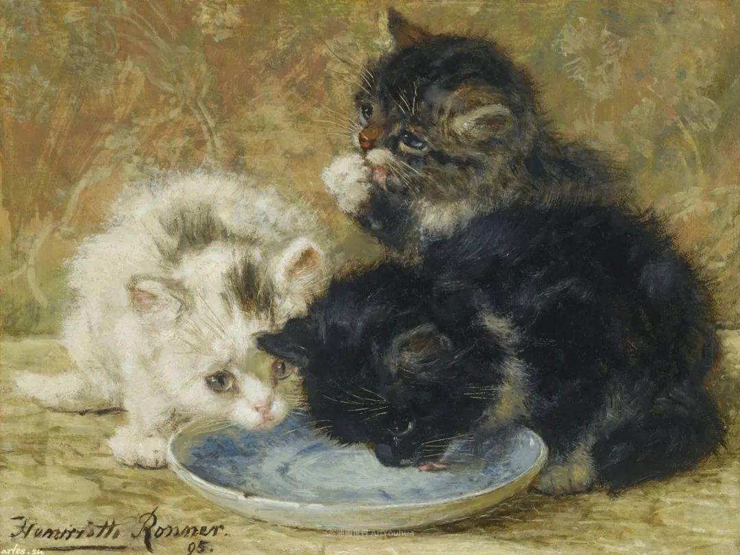 100年前她画了超多猫,姿态万千,惟妙惟肖插图111