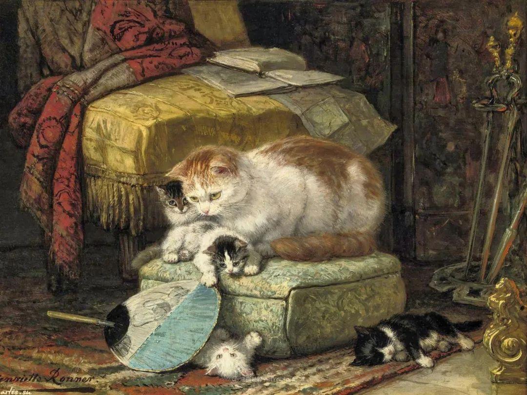 100年前她画了超多猫,姿态万千,惟妙惟肖插图113