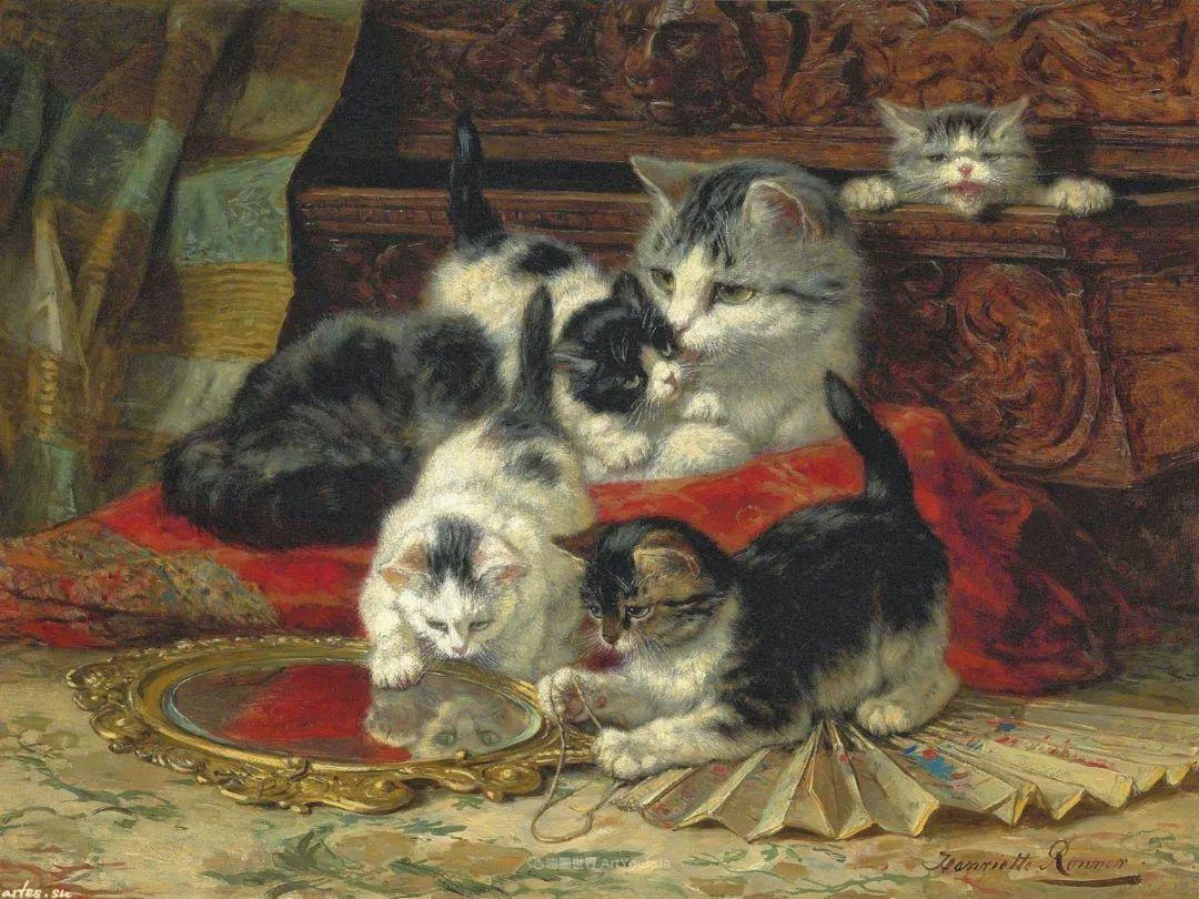 100年前她画了超多猫,姿态万千,惟妙惟肖插图115