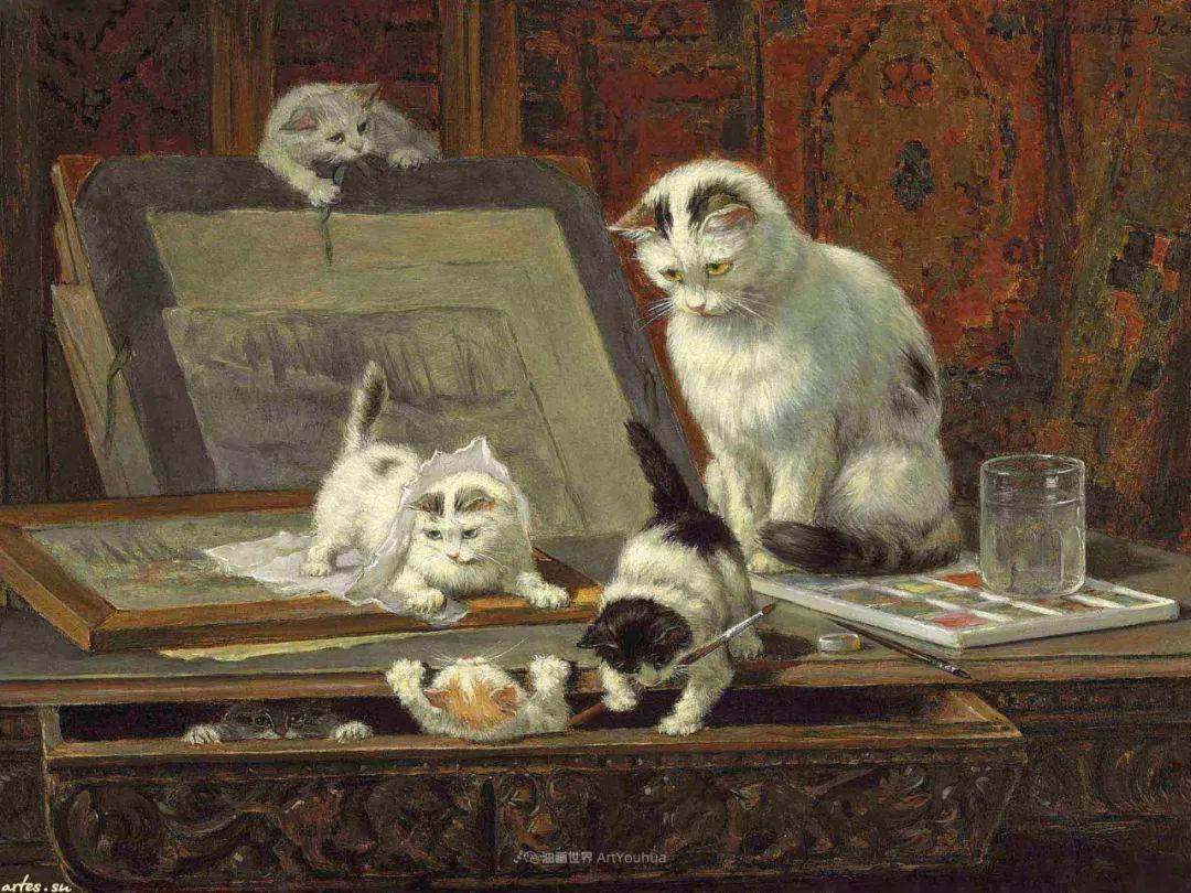 100年前她画了超多猫,姿态万千,惟妙惟肖插图117