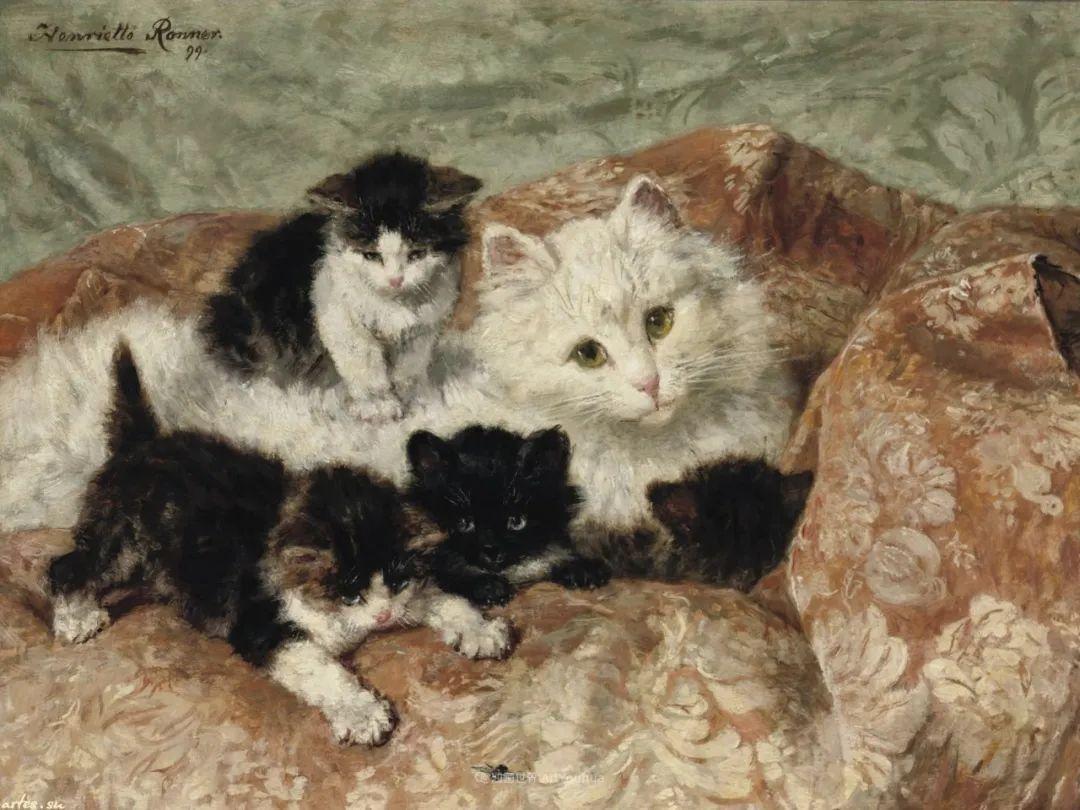 100年前她画了超多猫,姿态万千,惟妙惟肖插图121
