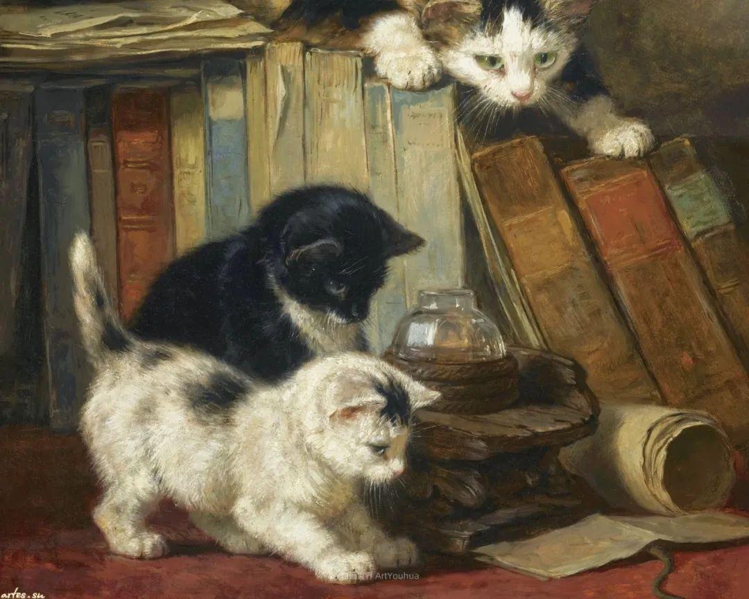 100年前她画了超多猫,姿态万千,惟妙惟肖插图123