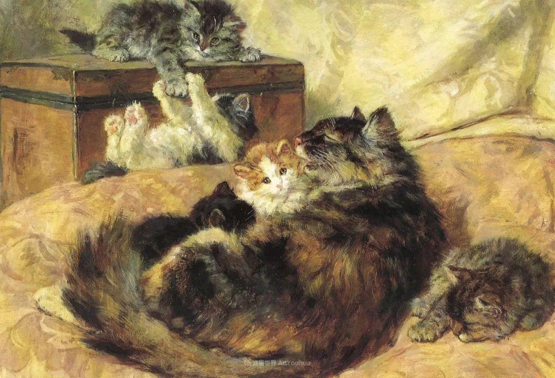100年前她画了超多猫,姿态万千,惟妙惟肖插图127