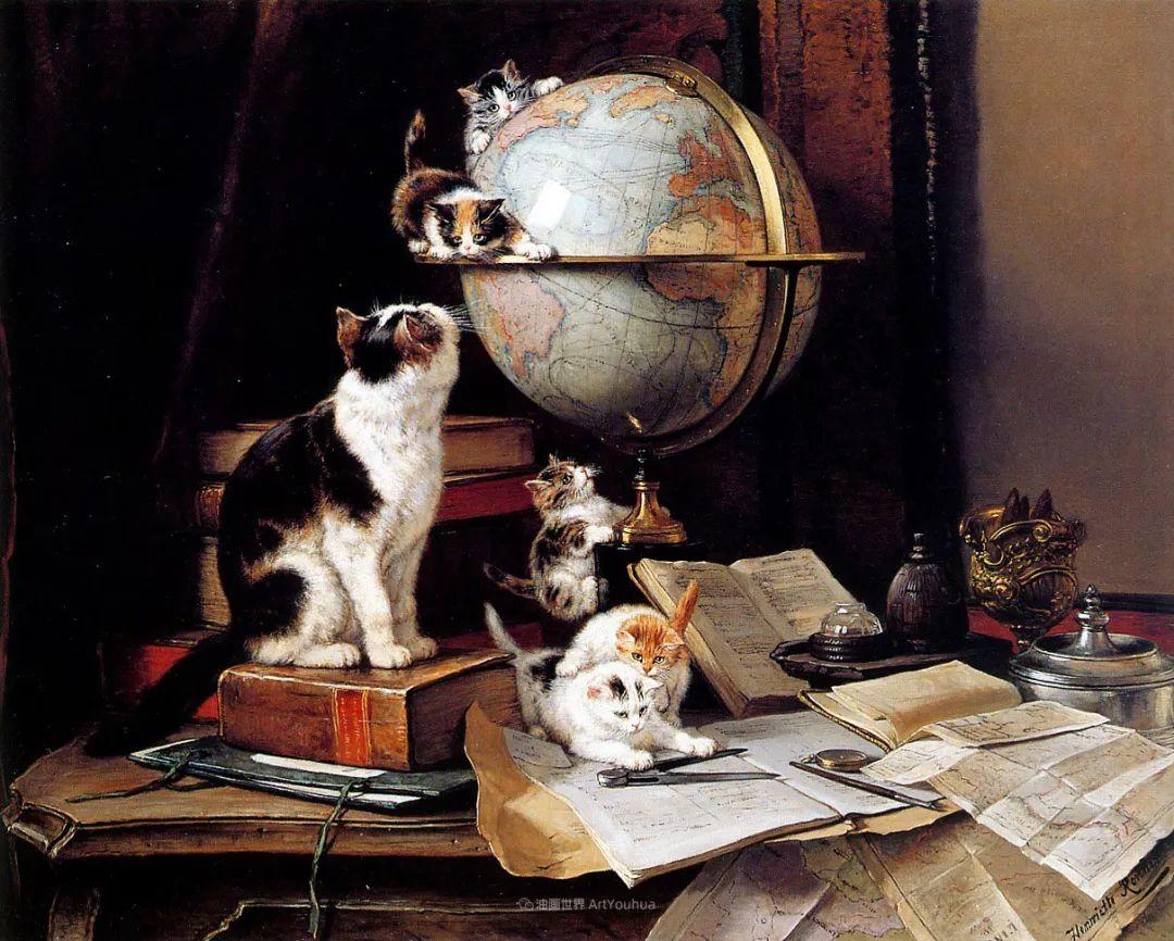 100年前她画了超多猫,姿态万千,惟妙惟肖插图129