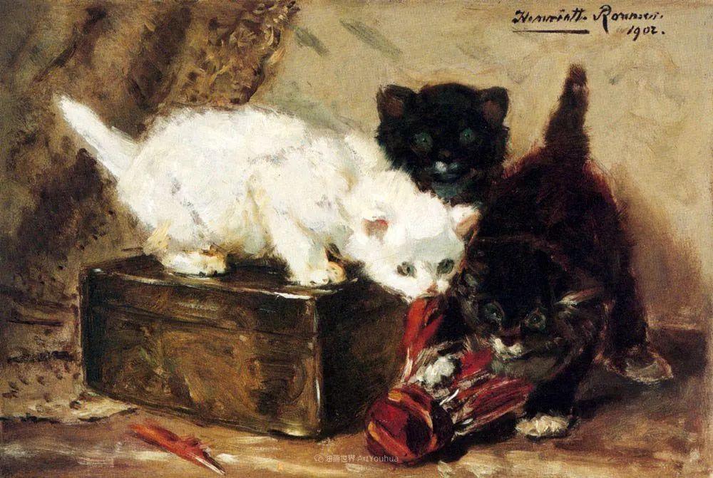 100年前她画了超多猫,姿态万千,惟妙惟肖插图133