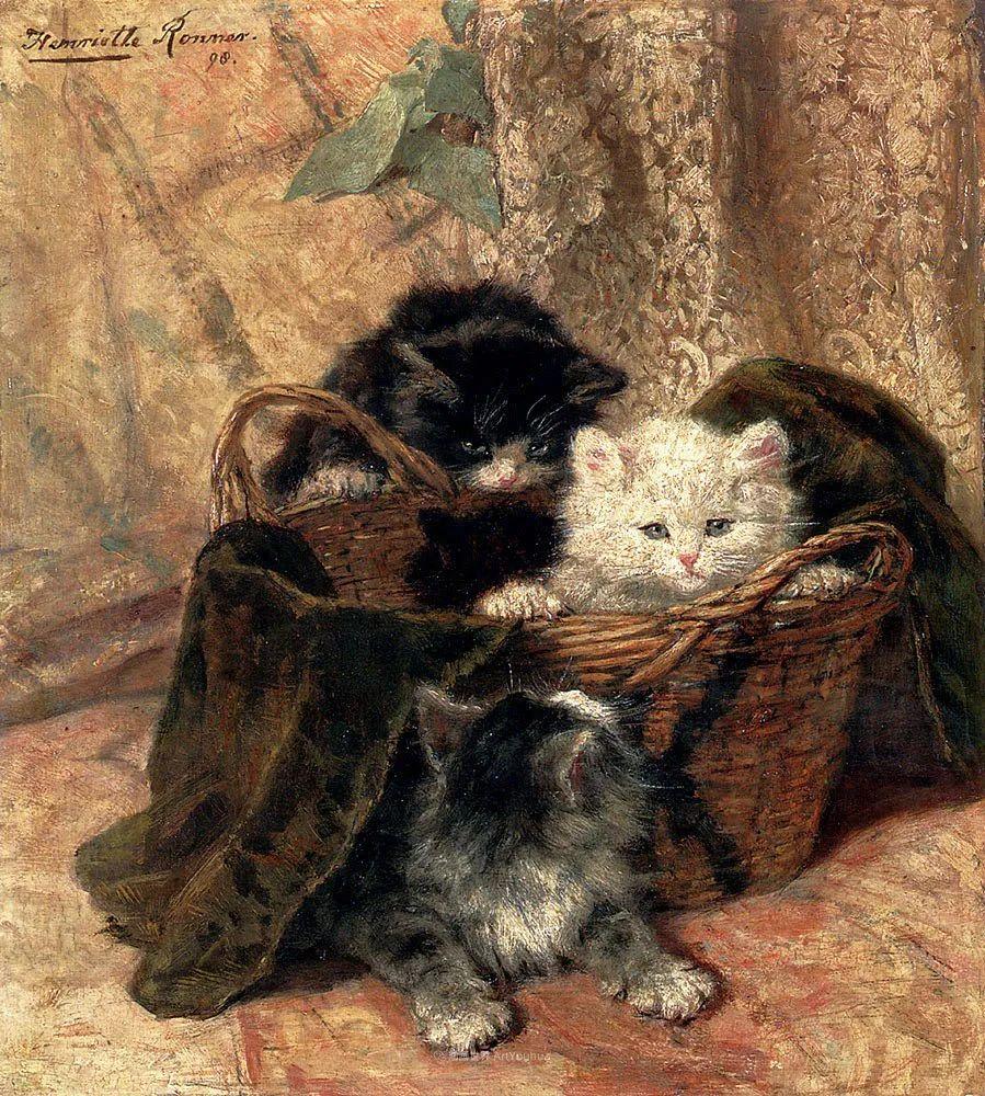 100年前她画了超多猫,姿态万千,惟妙惟肖插图135