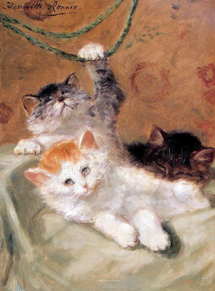 100年前她画了超多猫,姿态万千,惟妙惟肖插图137