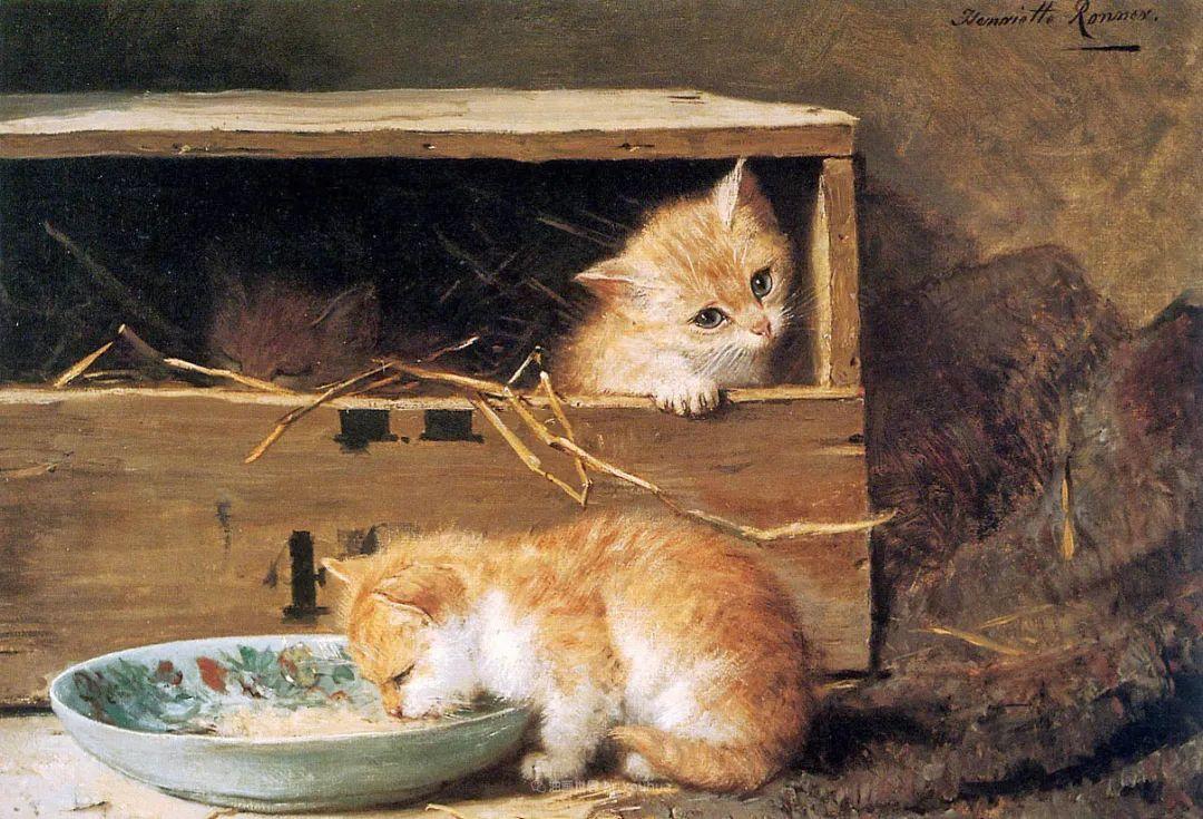 100年前她画了超多猫,姿态万千,惟妙惟肖插图139