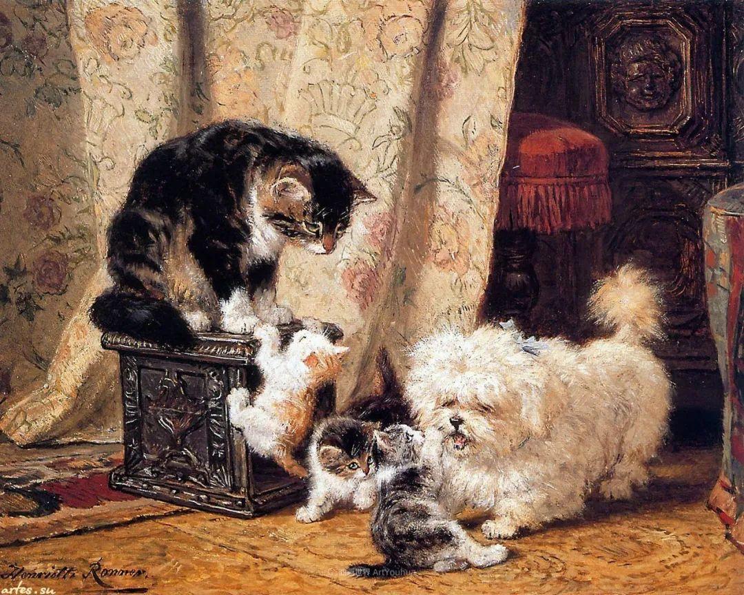 100年前她画了超多猫,姿态万千,惟妙惟肖插图143