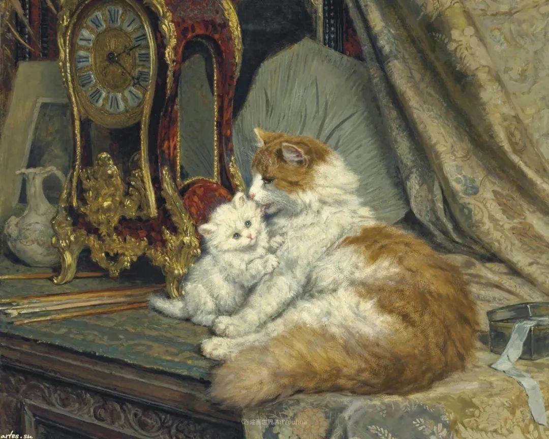 100年前她画了超多猫,姿态万千,惟妙惟肖插图145