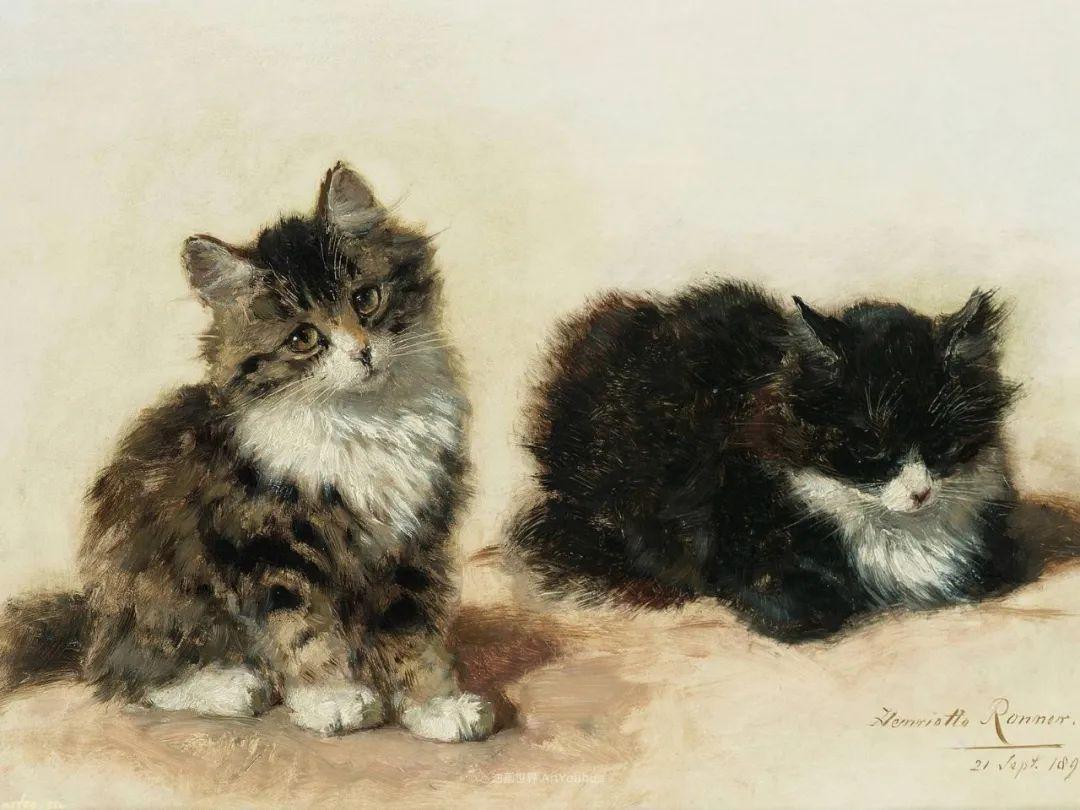 100年前她画了超多猫,姿态万千,惟妙惟肖插图147