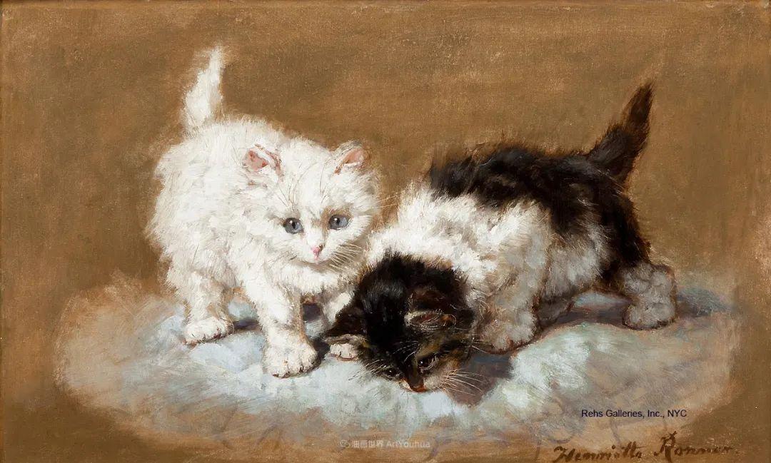 100年前她画了超多猫,姿态万千,惟妙惟肖插图149