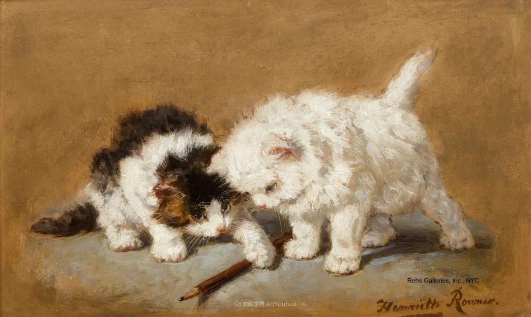 100年前她画了超多猫,姿态万千,惟妙惟肖插图151