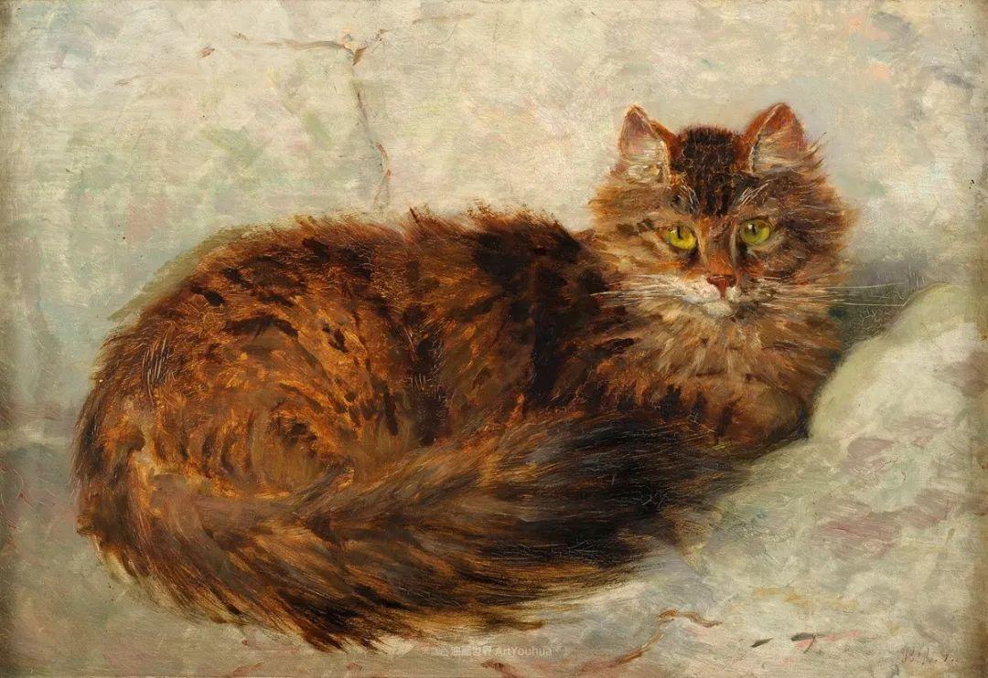 100年前她画了超多猫,姿态万千,惟妙惟肖插图153