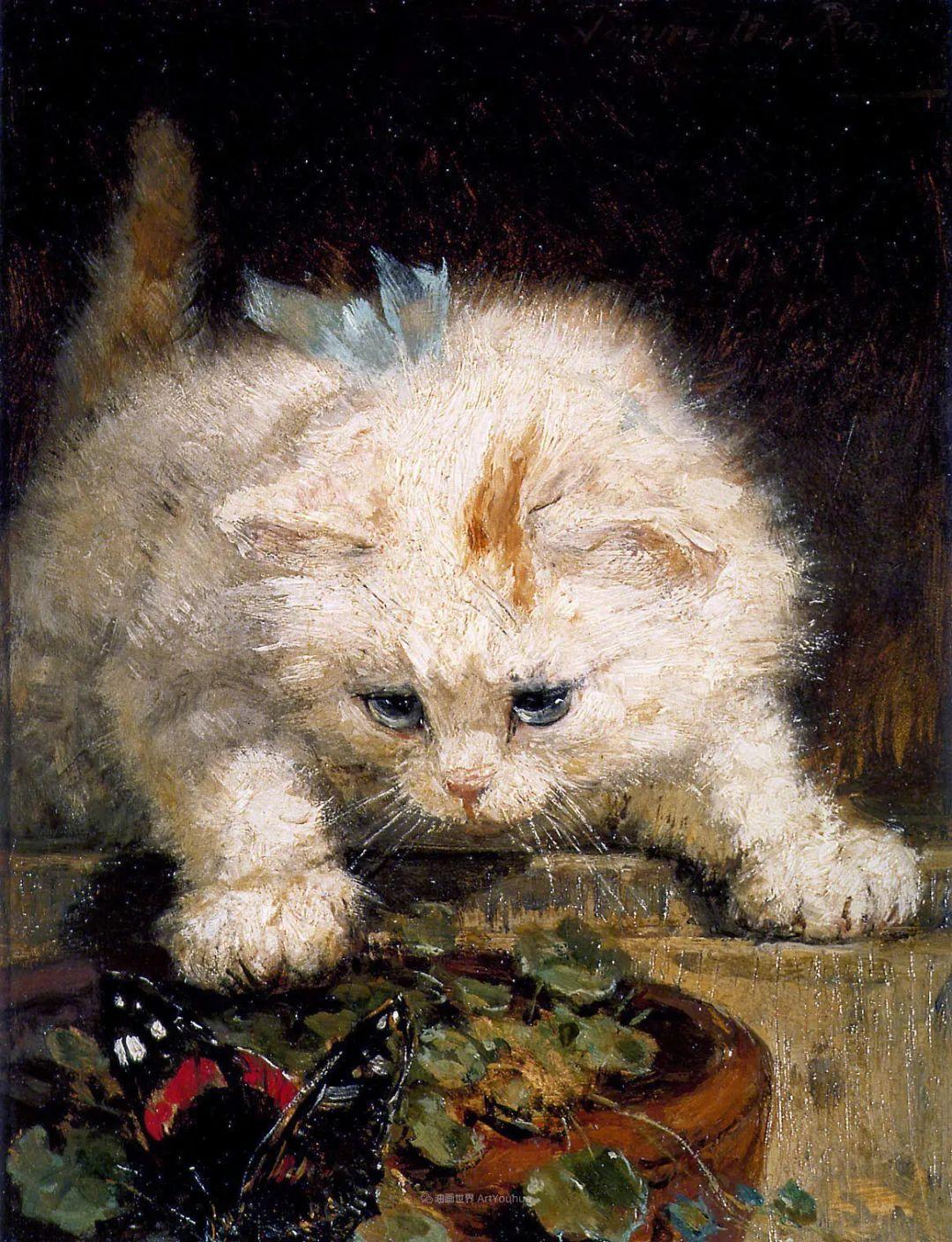 100年前她画了超多猫,姿态万千,惟妙惟肖插图155