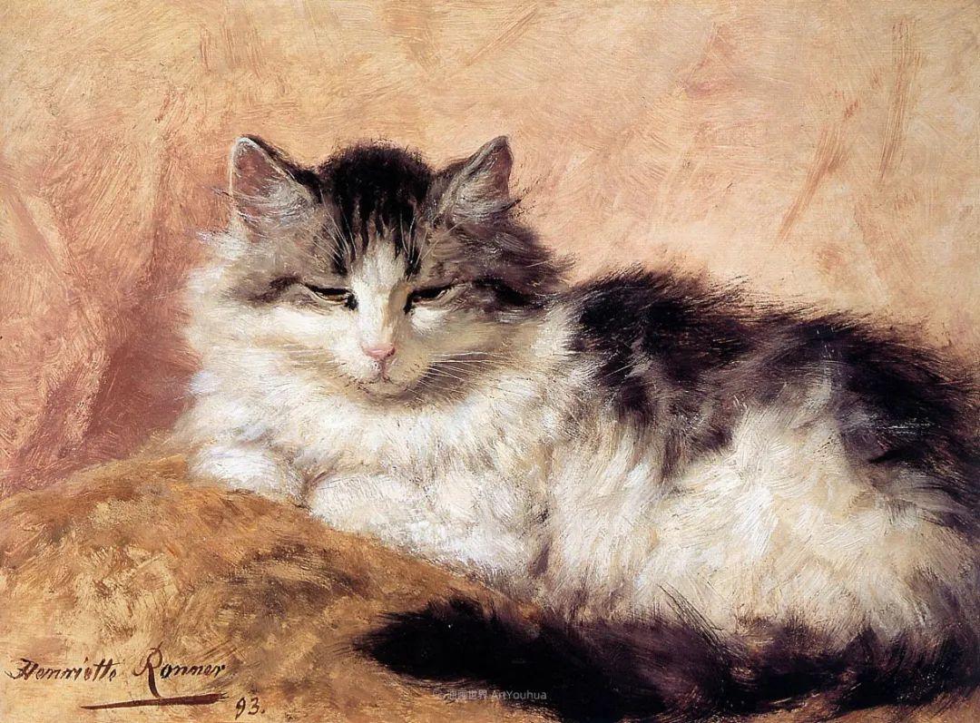 100年前她画了超多猫,姿态万千,惟妙惟肖插图157