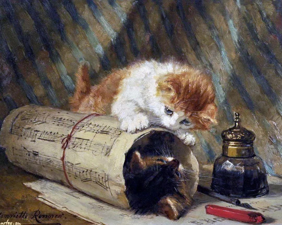 100年前她画了超多猫,姿态万千,惟妙惟肖插图159