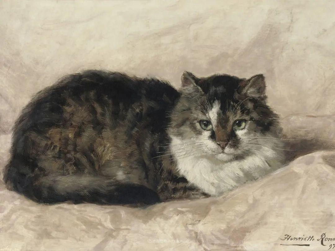 100年前她画了超多猫,姿态万千,惟妙惟肖插图161