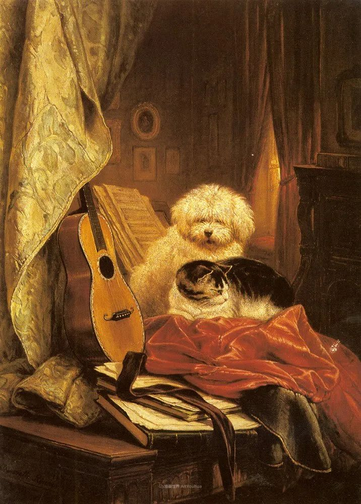 100年前她画了超多猫,姿态万千,惟妙惟肖插图167