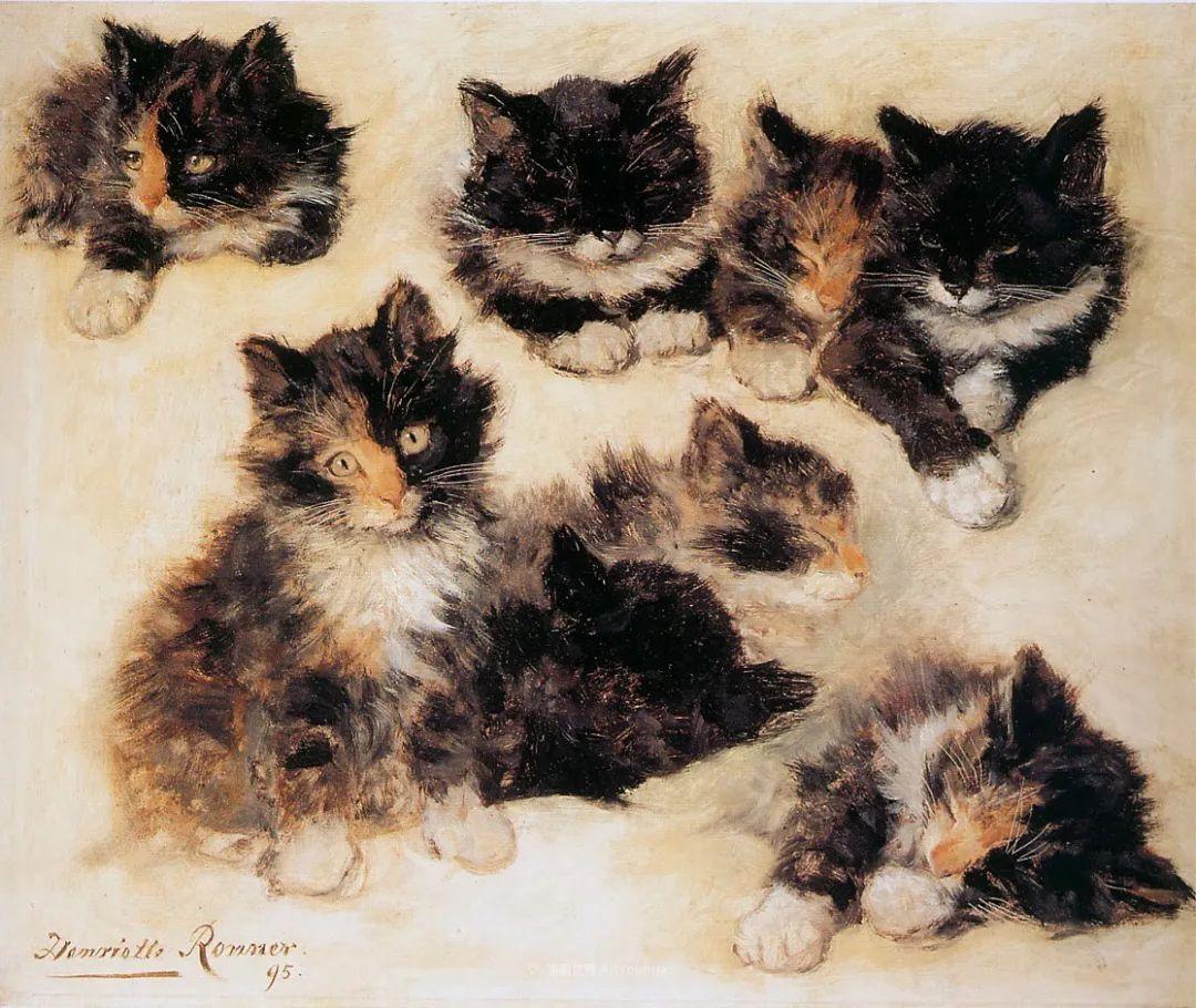 100年前她画了超多猫,姿态万千,惟妙惟肖插图169