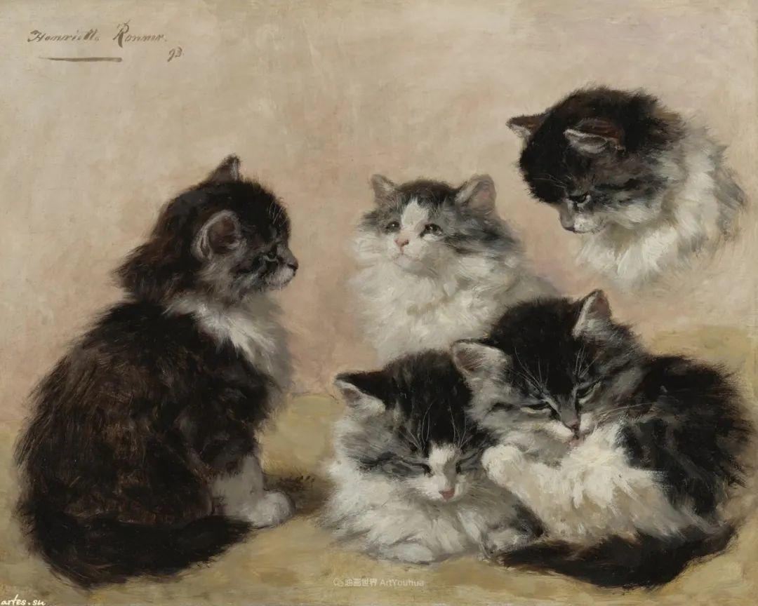 100年前她画了超多猫,姿态万千,惟妙惟肖插图171