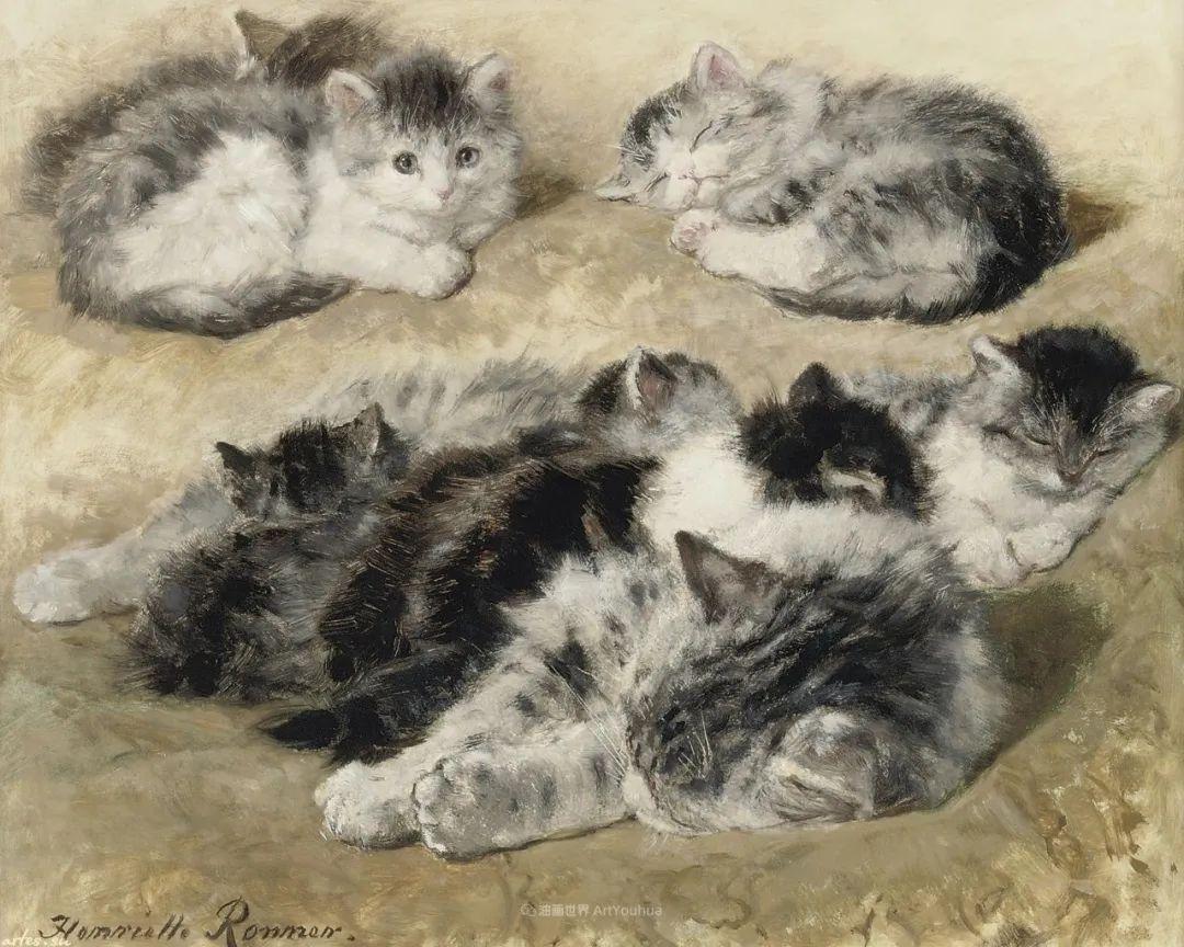 100年前她画了超多猫,姿态万千,惟妙惟肖插图173