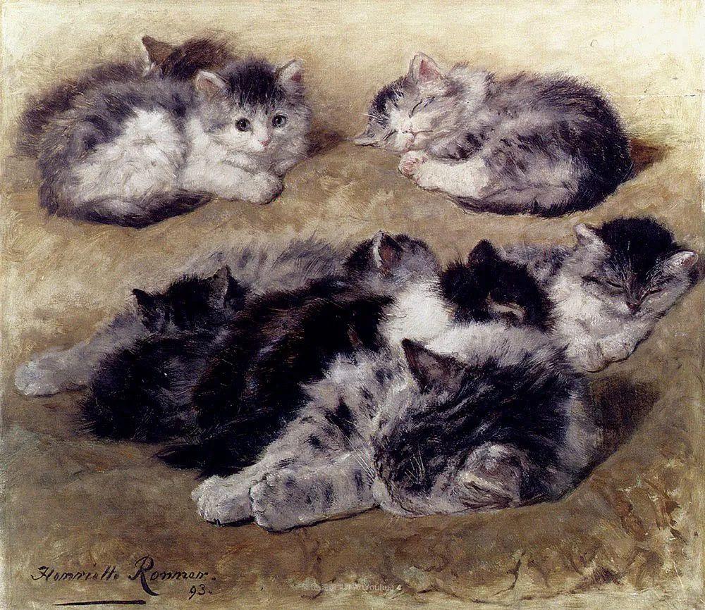 100年前她画了超多猫,姿态万千,惟妙惟肖插图175