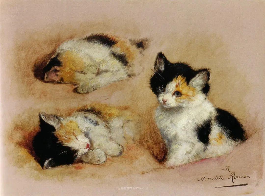 100年前她画了超多猫,姿态万千,惟妙惟肖插图177