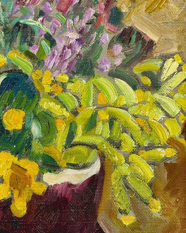 笔触粗犷,色彩令人陶醉,高清花卉作品插图3