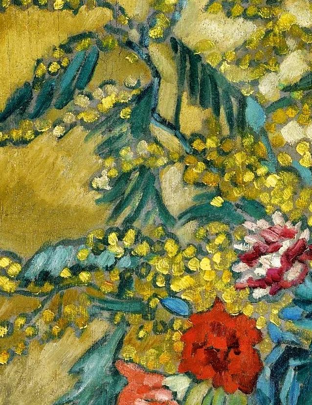 笔触粗犷,色彩令人陶醉,高清花卉作品插图5