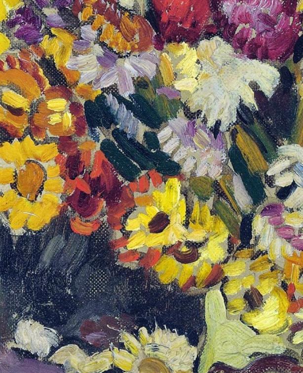 笔触粗犷,色彩令人陶醉,高清花卉作品插图11