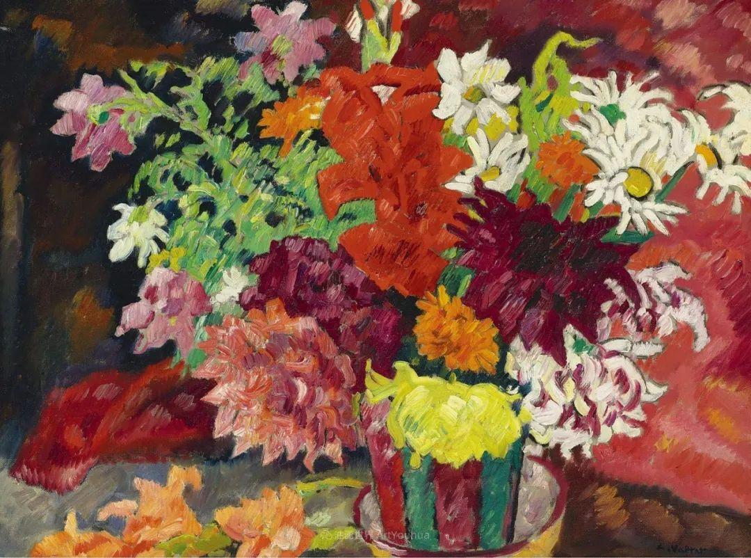 笔触粗犷,色彩令人陶醉,高清花卉作品插图12