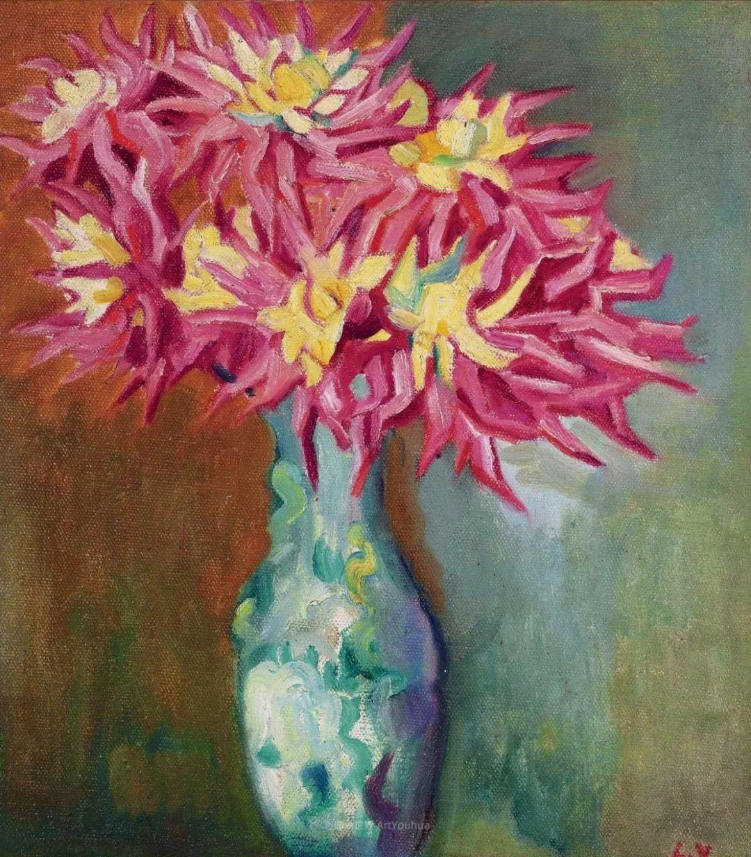 笔触粗犷,色彩令人陶醉,高清花卉作品插图15