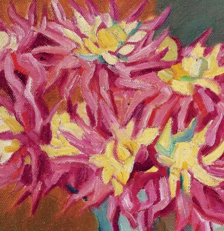 笔触粗犷,色彩令人陶醉,高清花卉作品插图16