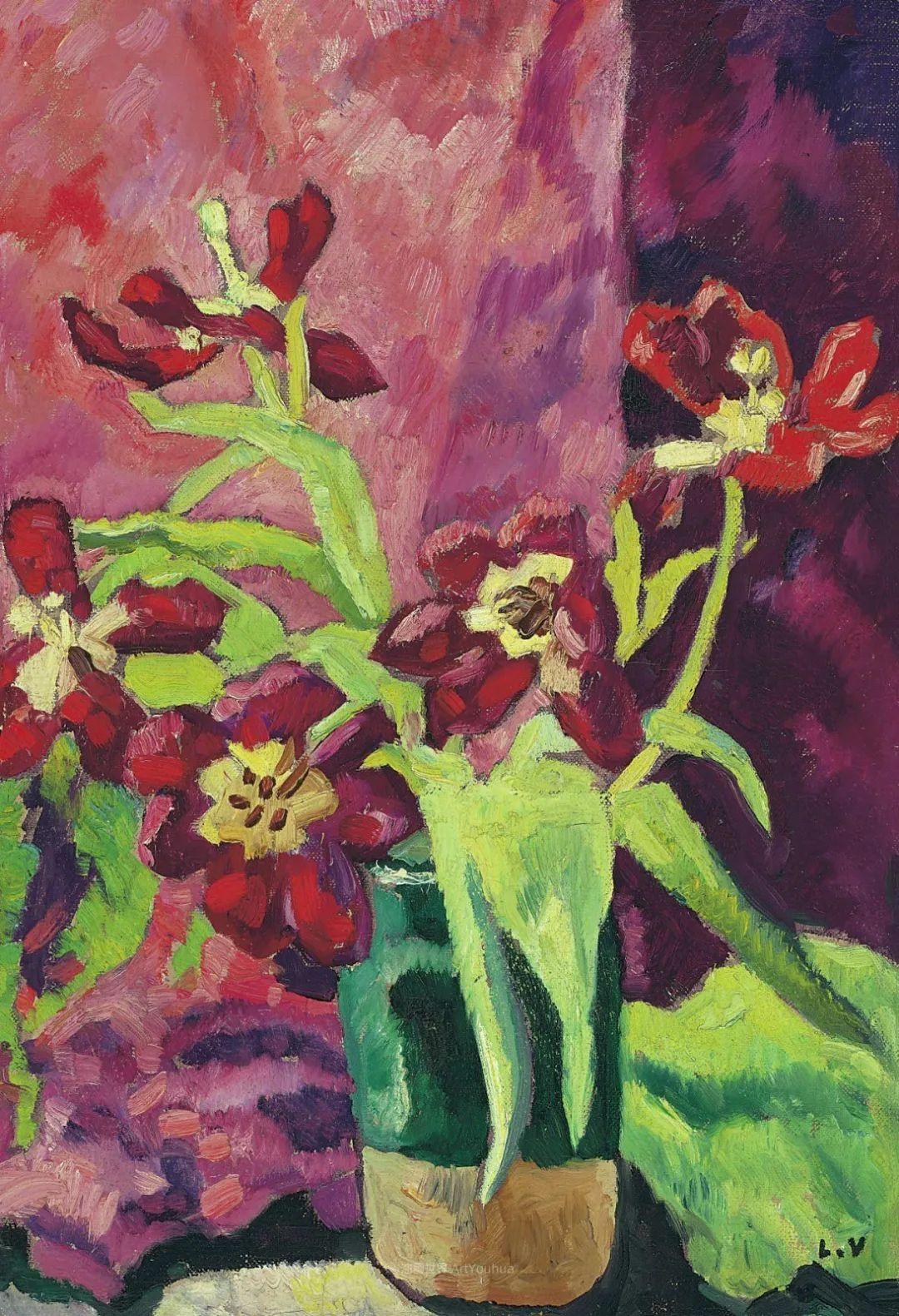 笔触粗犷,色彩令人陶醉,高清花卉作品插图22