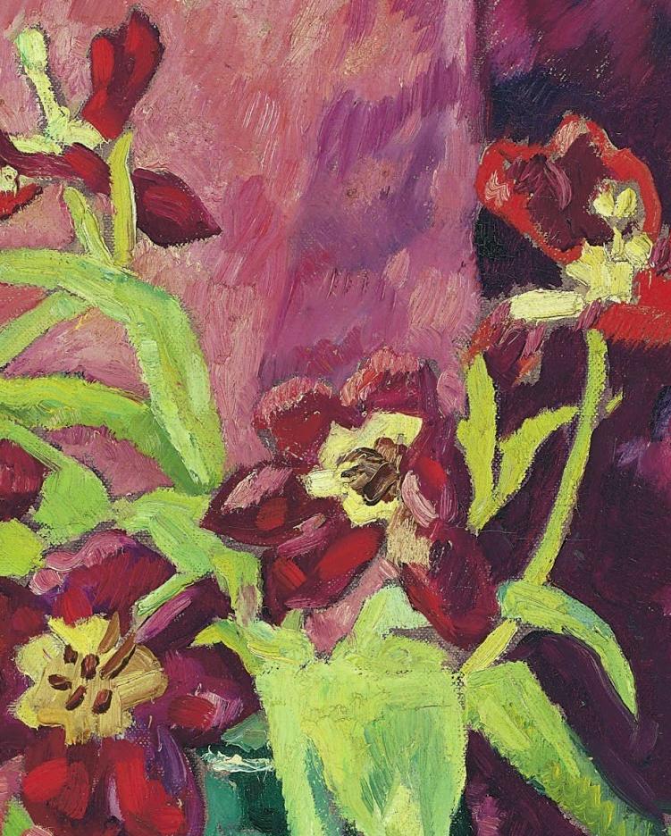 笔触粗犷,色彩令人陶醉,高清花卉作品插图23