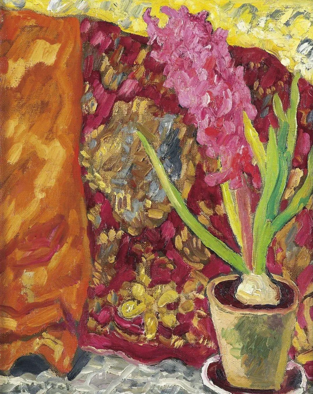 笔触粗犷,色彩令人陶醉,高清花卉作品插图25