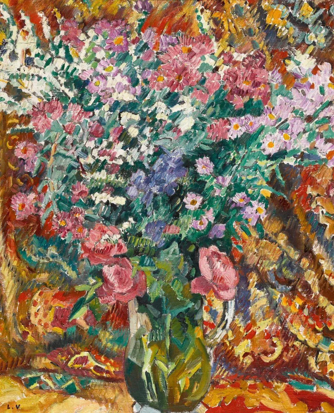 笔触粗犷,色彩令人陶醉,高清花卉作品插图30