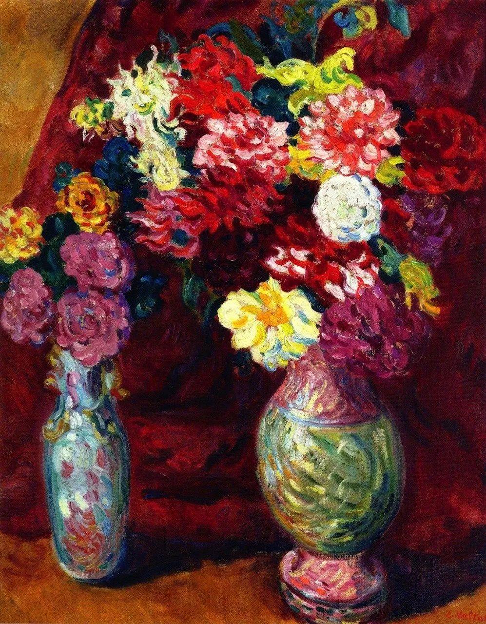 笔触粗犷,色彩令人陶醉,高清花卉作品插图33