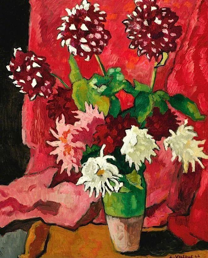 笔触粗犷,色彩令人陶醉,高清花卉作品插图34
