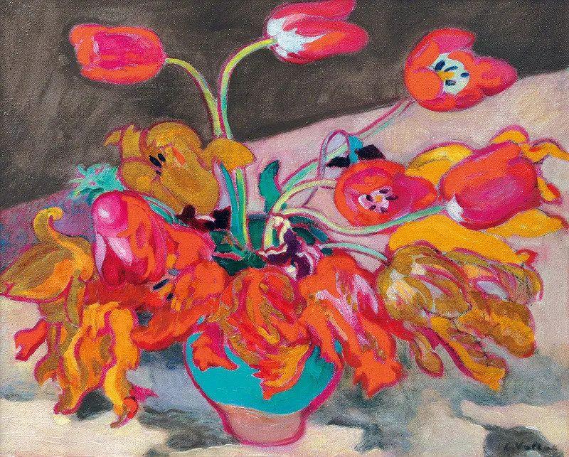 笔触粗犷,色彩令人陶醉,高清花卉作品插图36
