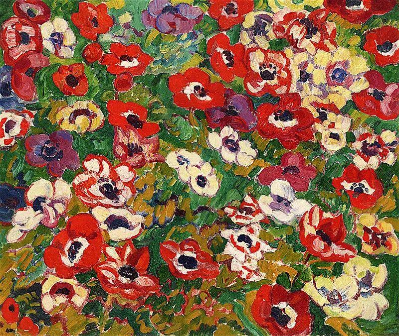 笔触粗犷,色彩令人陶醉,高清花卉作品插图37