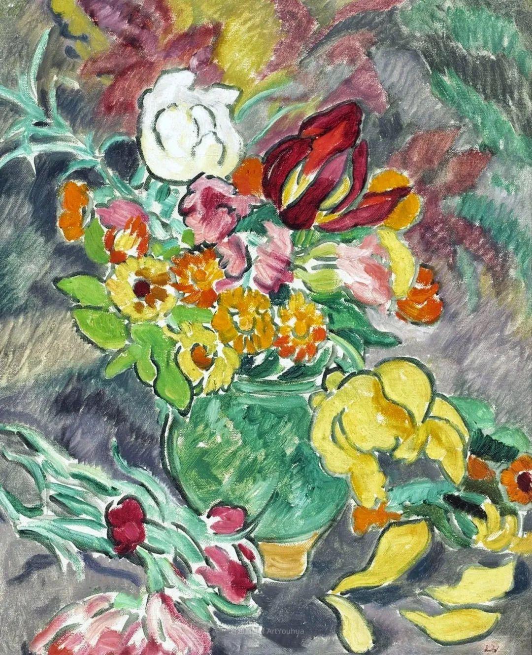 笔触粗犷,色彩令人陶醉,高清花卉作品插图40