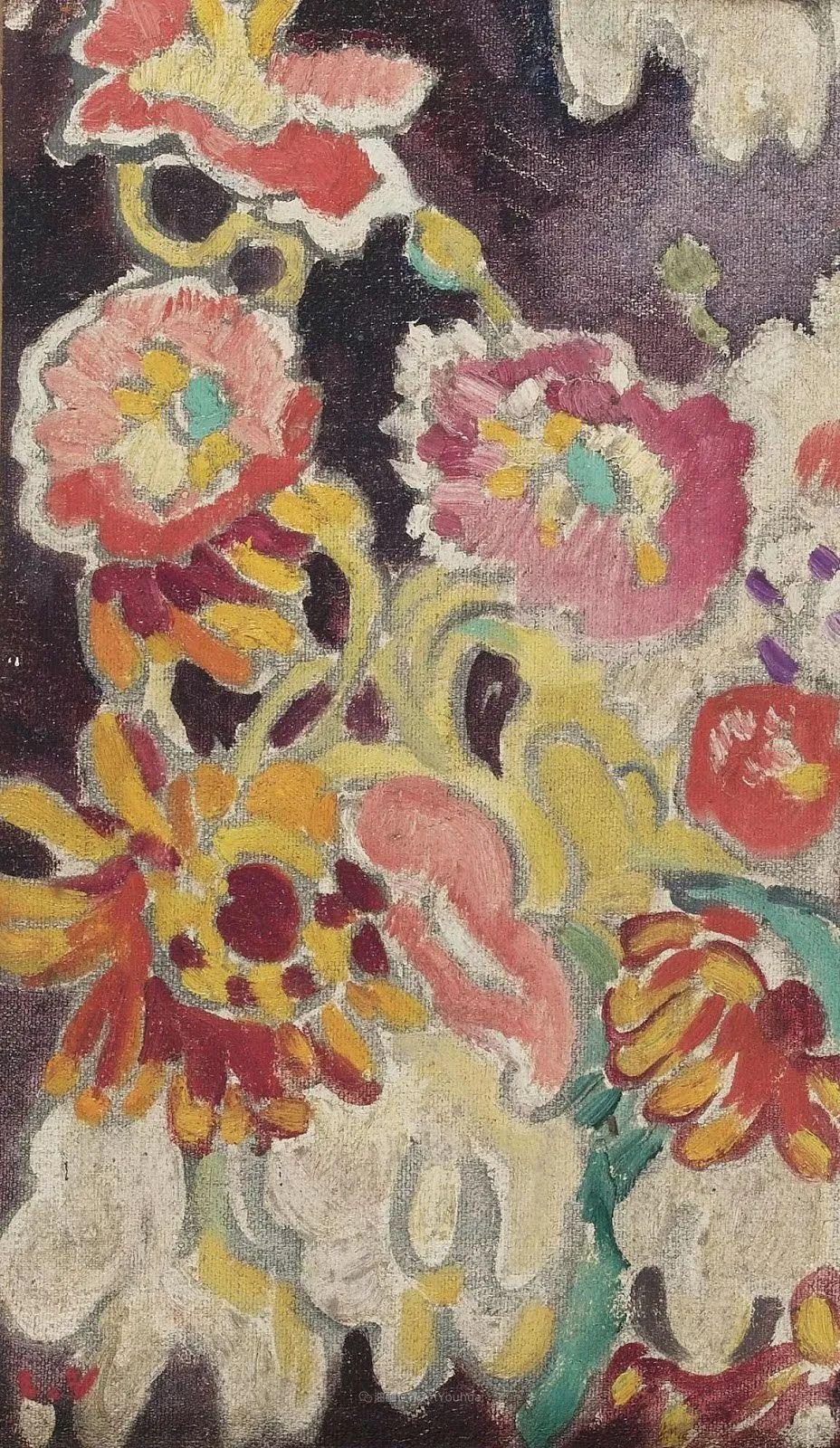 笔触粗犷,色彩令人陶醉,高清花卉作品插图44