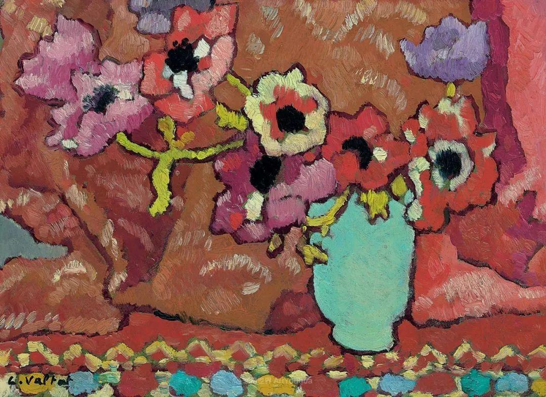 笔触粗犷,色彩令人陶醉,高清花卉作品插图45