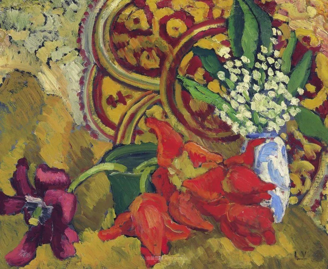 笔触粗犷,色彩令人陶醉,高清花卉作品插图46