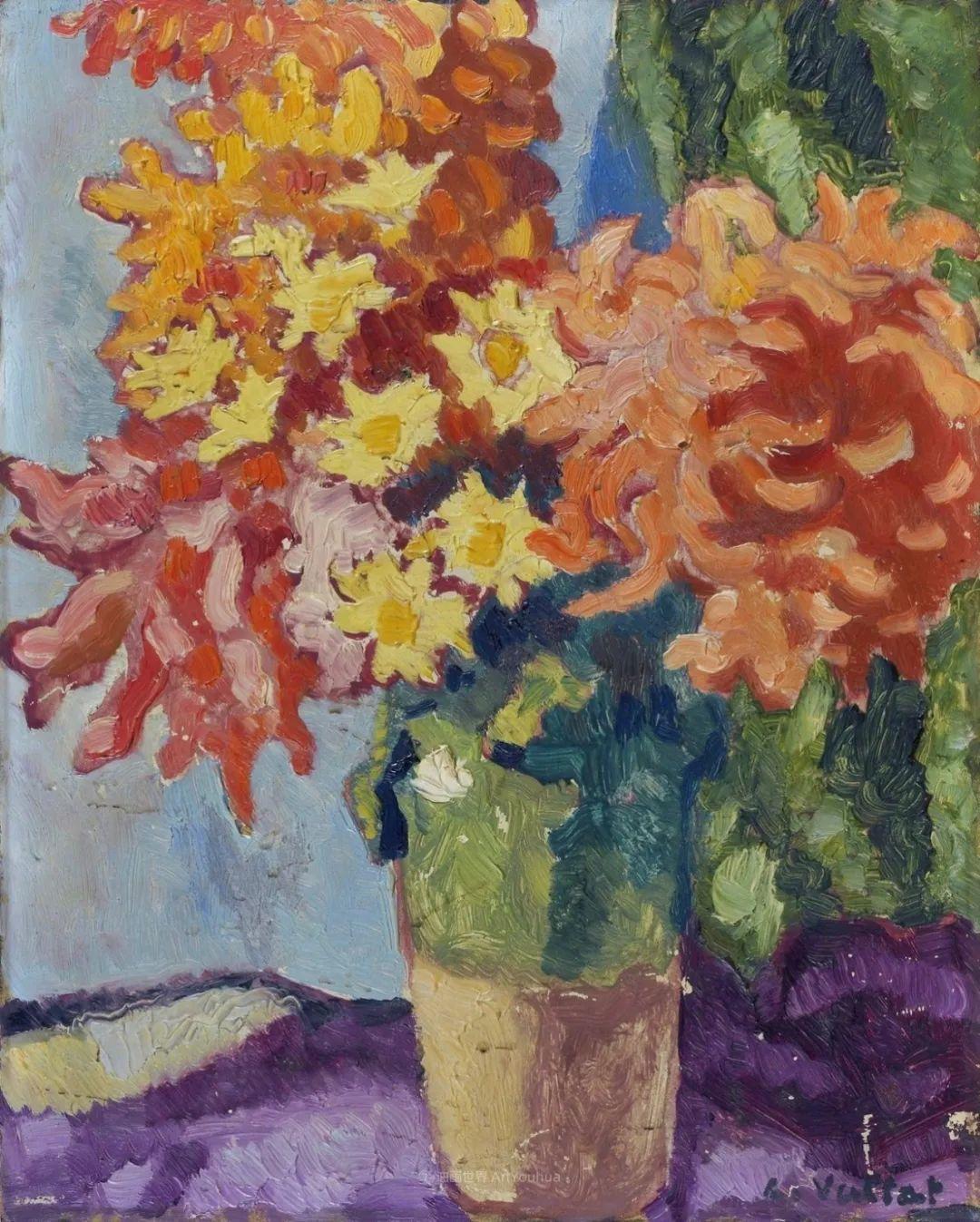 笔触粗犷,色彩令人陶醉,高清花卉作品插图54